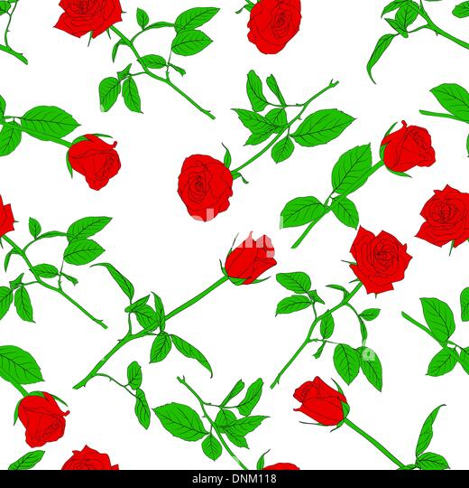 Seamless  background with roses. Could be used as seamless wallpaper, textile, wrapping paper or background - Stock-Bilder