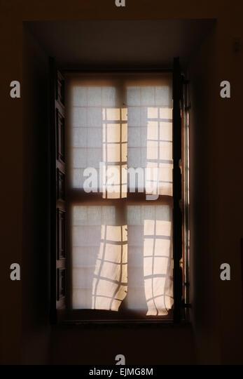 Baroque window in Palazzo Barberini, Rome, Italy. - Stock-Bilder