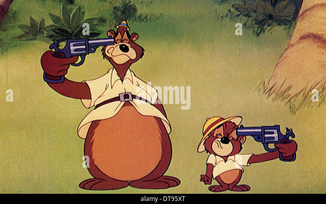 HALF-PINT PYGMY 1948 MGM animation with George at left and Junior - Stock Image