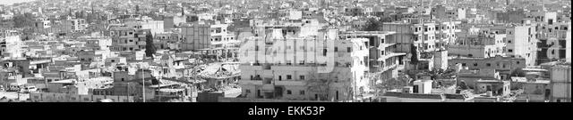 Destruction of Kobane - kurdish city in northern Syria. 31.3.2015, Kobane, Syria - Stock Image