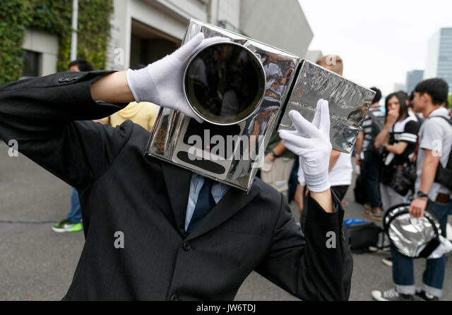 Tokyo, Japan. 11th August, 2017. A cosplayer poses for a photograph during the first day of Comic Market 92 (Comiket) - Stock Image