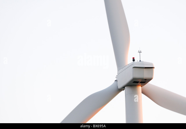 Wind turbine close-up - Stock Image