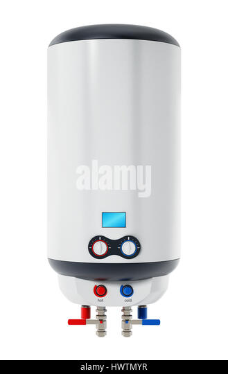 Water heater isolated on white background. 3D illustration. - Stock Image