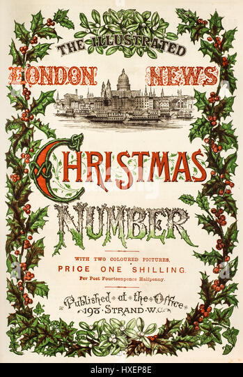 1874 Christmas edition of 'The Illustrated London News' weekly newspaper. - Stock Image