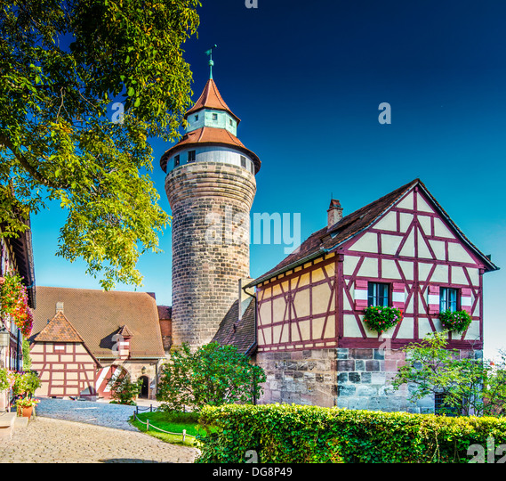 Nuremberg Castle Nuremberg, Germany. - Stock Image
