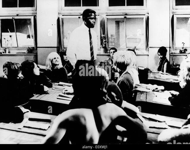 Actor Sidney Poitier in the film 'To Sir With Love' - Stock Image