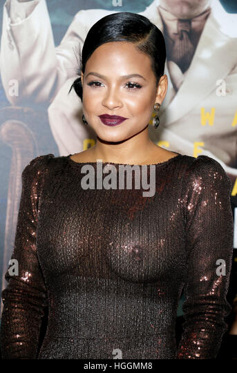 Hollywood, USA. 09th Jan, 2017. Christina Milian at the Los Angeles premiere of 'Live By Night' held at - Stock Image