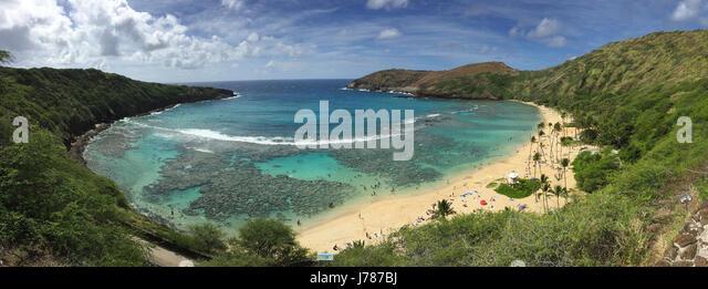 HANAUMA BAY, O'ahu, Hawaai. Photo: Tony Gale - Stock-Bilder