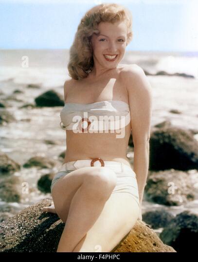 Marilyn Monroe / 1948 California, USA - Stock Image