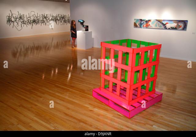 Nevada Las Vegas UNLV University of Nevada campus school Marjorie Barrick Art Museum fine arts gallery - Stock Image