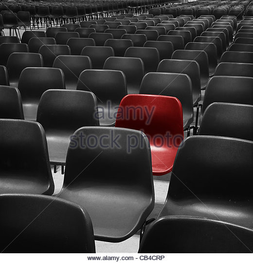 red seat - Stock Image