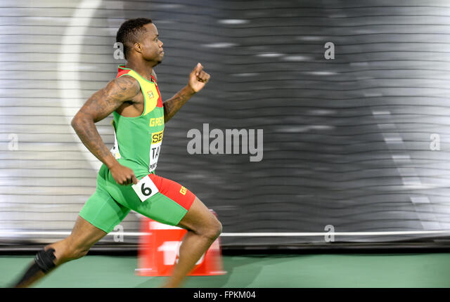 Portland, Oregon, USA  March 18, 2016 - BRALON TAPLIN competes in the men's 400m at the 2016 IAAF World Indoor - Stock-Bilder