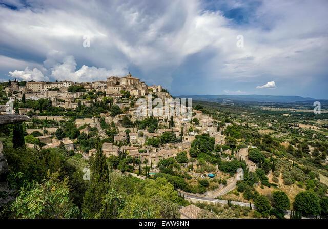 Village Gordes, Luberon, Vaucluse, Provence, France, - Stock Image