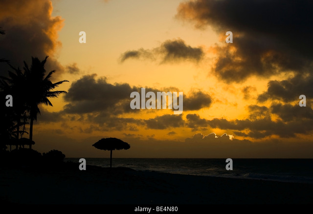 Clouds, beach, Varadero, Cuba - Stock Image