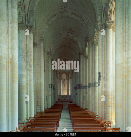 Interior of a Romanesque Church