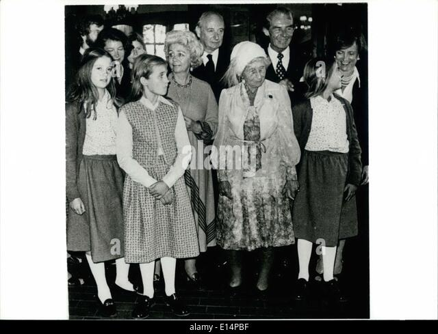 Apr. 18, 2012 - Emperor-Daughter Victoria Luise Died: In the age of 88 years, on december 11th. 1980 the only daughter - Stock-Bilder
