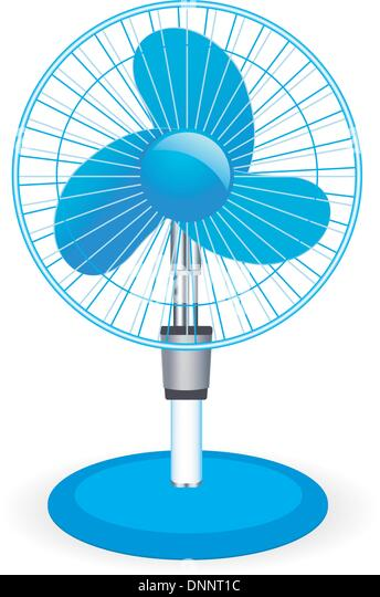 table fan - vector illustration - Stock Image