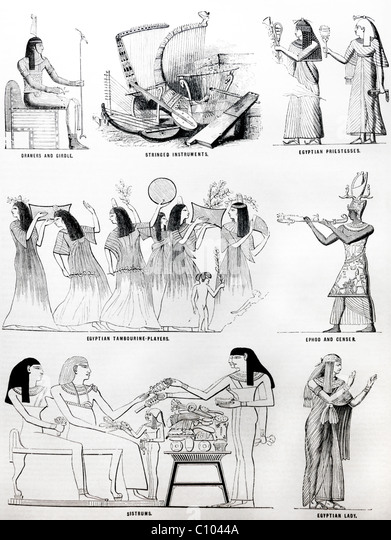Bible Illustrations Of Egyptians - Stock Image