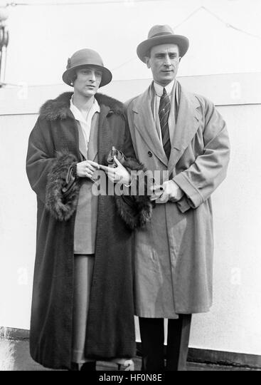 FELIX YUSOPOV (1887-1967) Russian aristocrat with his wife Irina about 1930. - Stock Image