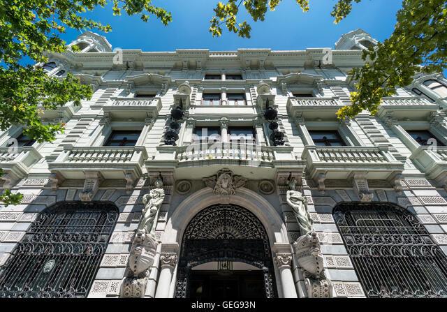 Banco de Santander, Santander, Cantabria, Spain - Stock Image