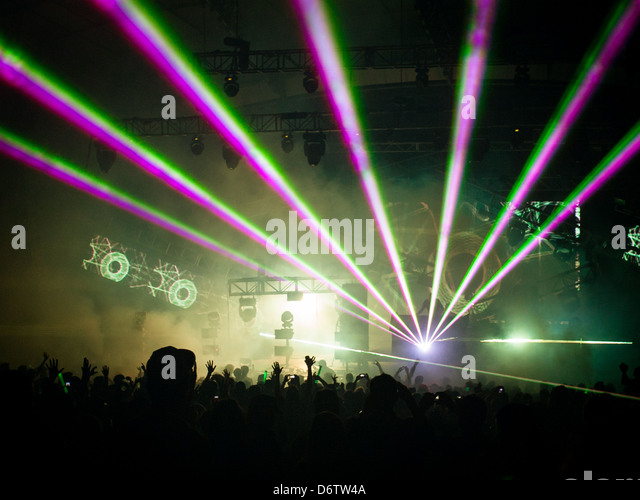 DJ Set at Summadayze in Melbourne, Australia - Stock Image