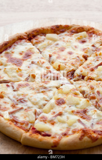 aerial view of a Pizza - Stock Image