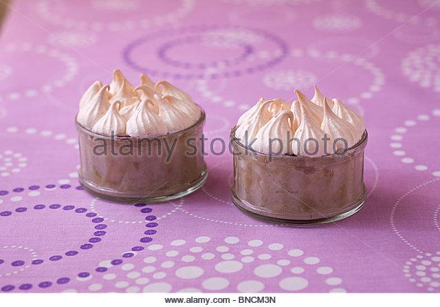 Meringue pear rice - Stock Image