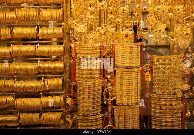 Gold souk, Dubai, United Arab Emirates, Middle East - Stock Image