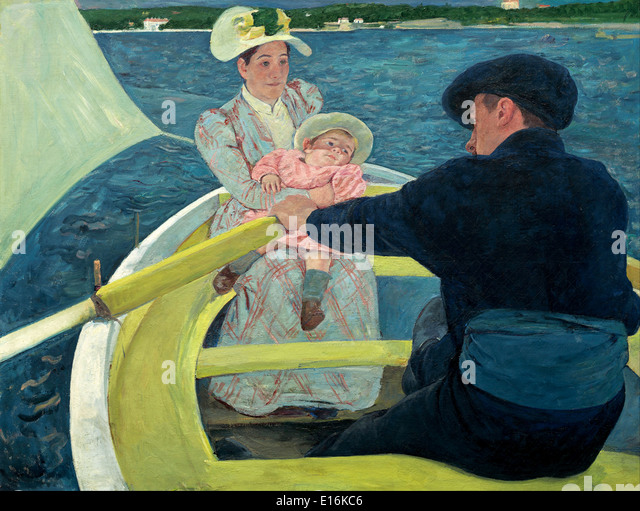 The Boating Party by Mary Cassatt, 1894 - Stock Image