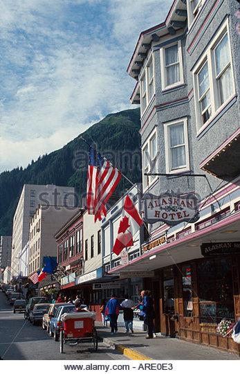 Alaska Juneau South Franklin Street Alaskan Hotel - Stock Image