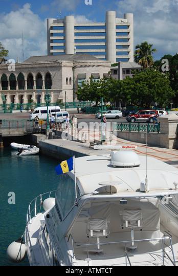 The Bridge area, Bridgetown, Barbados, Caribbean - Stock Image
