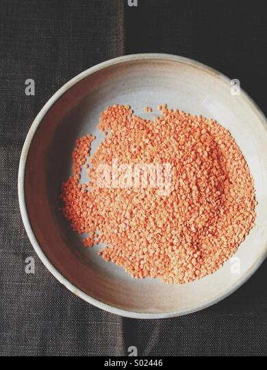 Red Lentils. - Stock Image