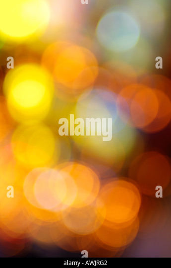 Abstract fairground coloured lights - Stock Image