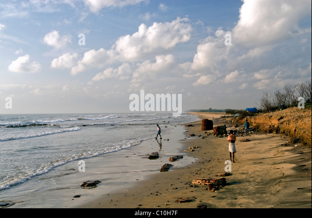 BEACH IN THARANGANBADI TAMILNADU - Stock-Bilder