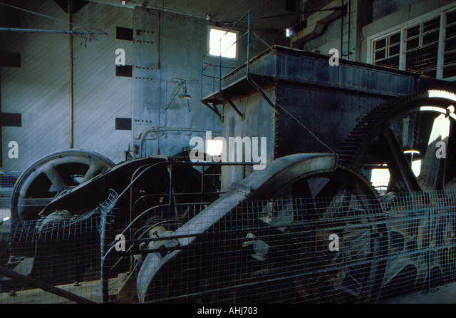 mining gold rush dredge near Dawson city, Yukon Territory Canada. Photo by Willy Matheisl - Stock Image