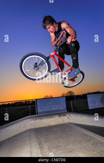 BMX Freestyle - Stock Image