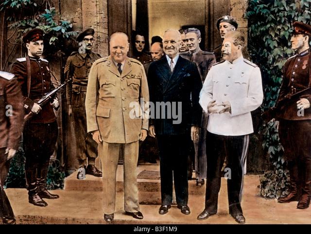 Potsdam Conference 1945. - Stock Image
