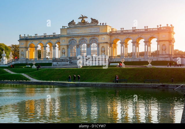 Gloriette monument at Schönbrunn Palace, Vienna - Stock Image