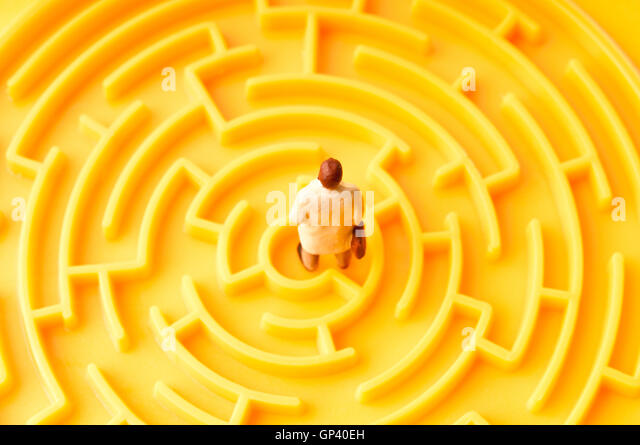 labyrinth of choices - Stock Image