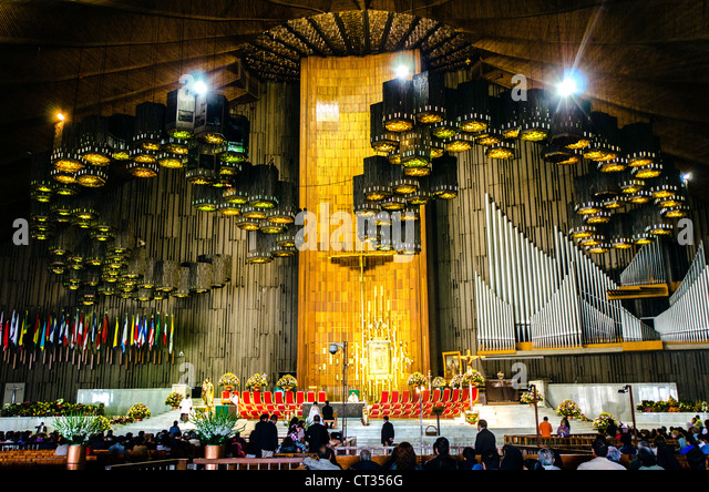 Guadalupe Basilica (Basilica de Nuestra Señora de Guadalupe) Mexico City Mexico Central America - Stock Image