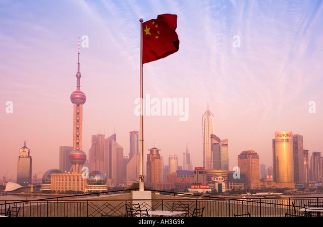 Shanghai Skyline China - Stock Image