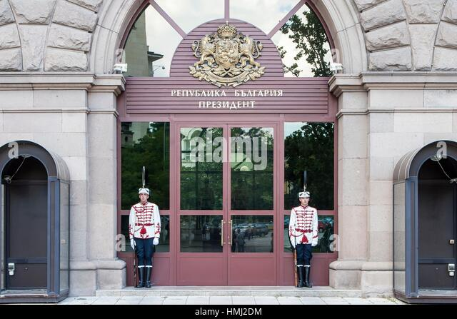 National Guard, Office and Administration of the President of Bulgaria, Sofia, Bulgaria. - Stock Image