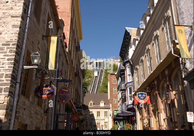 Funiculaire du Vieux Québec Old Quebec Funicular Quebec City Canada Canadian summer - Stock Image