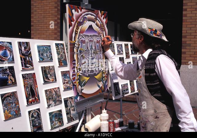Vancouver Canada Street Artist - Stock Image