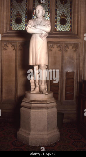 Statue in London in Houses of Parliament - Stock Image