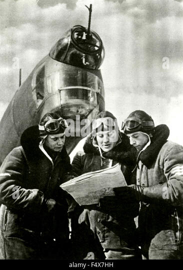 The German pilots studying military targets to hit on London, Berlin, Germany - Stock Image