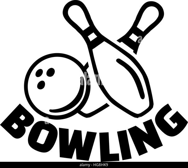 Bowling pin black and white