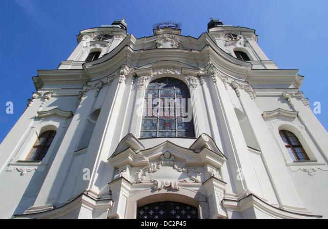 Church of St Maria Magdalena, Karlovy Vary, also Karlsbad or Carlsbad, Western Bohemia, Czech Republic, Europe - Stock-Bilder