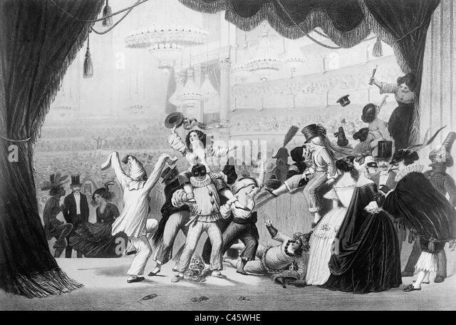 Parisian Opera Ball, 1850 - Stock-Bilder