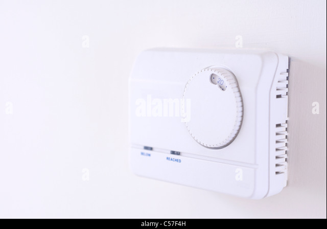 Close up of climate control dial - Stock Image